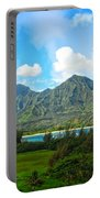The Backside Of The Napali Coastline Portable Battery Charger