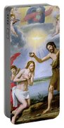 The Baptism Of Christ Portable Battery Charger by Ottavio Vannini