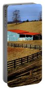 The Barn In Winter Portable Battery Charger