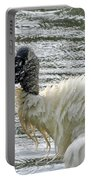 The Bathing Wood Stork 2 Portable Battery Charger