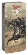 The Battle Of Cedar Creek Virginia Portable Battery Charger by Thure de Thulstrup