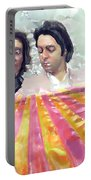 The Beatles. Watercolor Portable Battery Charger