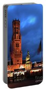 The Belfort Tower, Belfry, Bruges City, West Flanders Portable Battery Charger