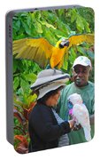 The Bird Lady At Ardastra Gardens Portable Battery Charger