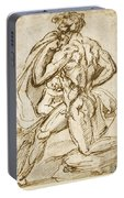 The Birth Of Bacchus From Jupiter's Thigh Portable Battery Charger