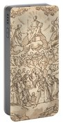 The Blessed In Paradise With The Virgin And St. John The Baptist Before God Portable Battery Charger