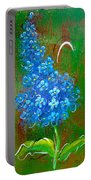 The Blue Flower Portable Battery Charger