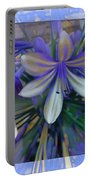 The Blue Flowers Of Melanie  Portable Battery Charger