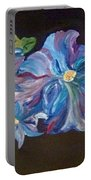The Blue Flowers Portable Battery Charger