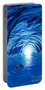 The Blue Grotto In Capri By Mcbride Angus  Portable Battery Charger