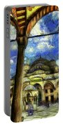 The Blue Mosque Istanbul Art Portable Battery Charger