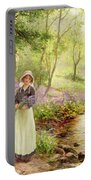 The Bluebell Glade Portable Battery Charger by Ernest Walbourn