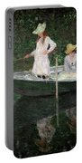 The Boat At Giverny Portable Battery Charger
