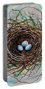 The Botanical Bird Nest Portable Battery Charger