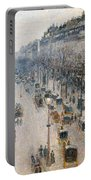The Boulevard Montmartre On A Winter Morning, 1897  Portable Battery Charger