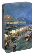 The Bowery At Night Portable Battery Charger