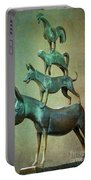 The Bremen Town Musicians Portable Battery Charger by Heiko Koehrer-Wagner