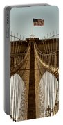 The Brooklyn Bridge Flag Portable Battery Charger