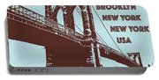 The Brooklyn Bridge, New York, Ny Portable Battery Charger