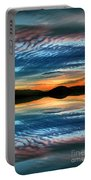 The Brush Strokes Of Evening Portable Battery Charger by Tara Turner