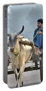 The Bullock Cart - India Portable Battery Charger by Kim Bemis
