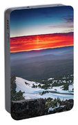 The Burning Clouds At Crater Lake Portable Battery Charger