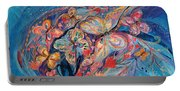 The Butterflies On Blue Portable Battery Charger