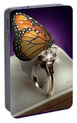 The Butterfly And The Engagement Ring Portable Battery Charger
