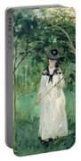 The Butterfly Hunt Portable Battery Charger by Berthe Morisot