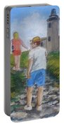 The Cabo Rojo Light House In Puerto Rico Portable Battery Charger