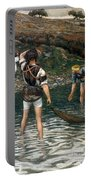 The Calling Of Saint Peter And Saint Andrew Portable Battery Charger by Tissot
