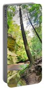 The Caves And Trail At Old Man's Cave Hocking Hills Ohio Portable Battery Charger