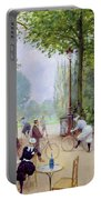 The Chalet Du Cycle In The Bois De Boulogne Portable Battery Charger