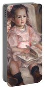 The Children Of Martial Caillebotte Portable Battery Charger by Pierre Auguste Renoir