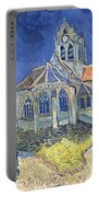 The Church At Auvers Sur Oise Portable Battery Charger by Vincent Van Gogh