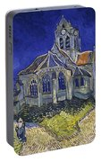 The Church At Auvers Portable Battery Charger