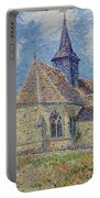 The Church At Porte-joie On The Eure By Gustave Loiseau Portable Battery Charger