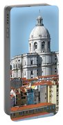 The Church Of Santa Engracia And Rooftops -- Lisbon Portable Battery Charger
