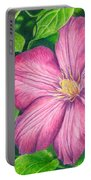 The Clematis Flower Portable Battery Charger