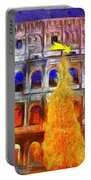 The Colosseum And Christmas  - Van Gogh Style -  - Da Portable Battery Charger