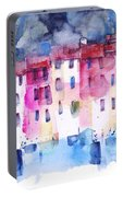 The Coloured Houses Of Portofino Portable Battery Charger