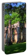 The Columns Old Sheldon Church Ruins Portable Battery Charger