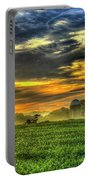 The Cornfield Dawn The Iron Horse Collection Art  Portable Battery Charger