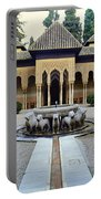 The Court Of The Lions Alhambra Spain Portable Battery Charger