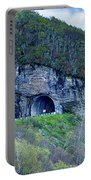 The Craggy Pinnacle Tunnel On The Blue Ridge Parkway In North Ca Portable Battery Charger