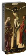 The Crucifixion With The Virgin And Saint John Portable Battery Charger