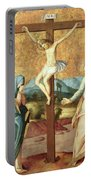 The Crucifixion With The Virgin And St John The Evangelist Portable Battery Charger
