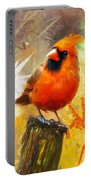 The Curious Cardinal Portable Battery Charger
