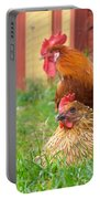 The Curious Cock And The Jealous Hen In The Mystery Of The Black Feather Portable Battery Charger