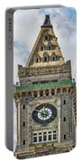 The Customs House Clock Tower Boston Portable Battery Charger